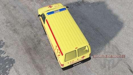 Gavril H-Série Ambulância para BeamNG Drive