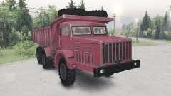 MAZ-530 cor vermelha para Spin Tires