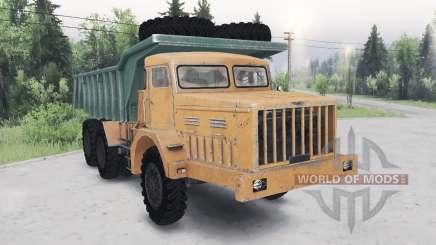 MAZ-530 laranja-verde para Spin Tires