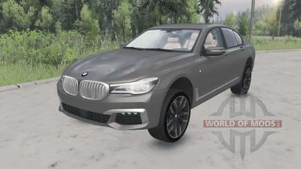 BMW M760i xDrive (G11) 2017 lifted para Spin Tires