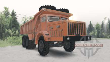 MAZ-530 cor laranja para Spin Tires
