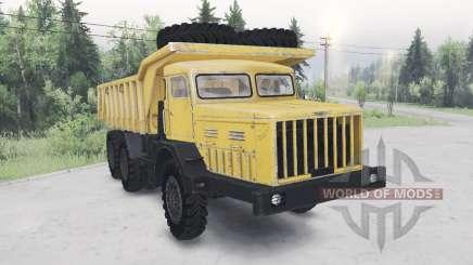 MAZ-530 cor amarela para Spin Tires