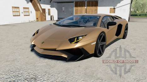 Lamborghini Aventador LP 750-4 SV (LB834) 2015 para Farming Simulator 2017