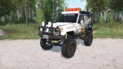 Toyota Land Cruiser Hard Top (J71) LX lifted para MudRunner