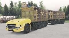 Não-tripulados caminhão Scania 10x10 para Spin Tires