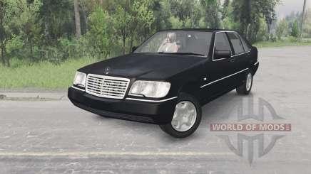 Mercedes-Benz S600 (W140) 1996 para Spin Tires