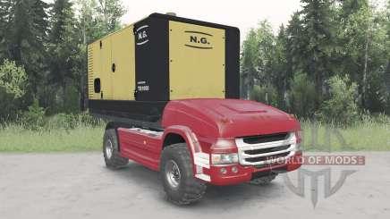 Não-tripulados caminhão Scania para Spin Tires