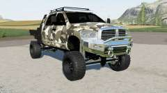 Dodge Ram 3500 Mega Cab flatbed para Farming Simulator 2017