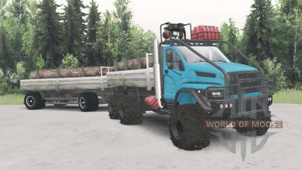 Ural-4320-6951-74 cor azul para Spin Tires