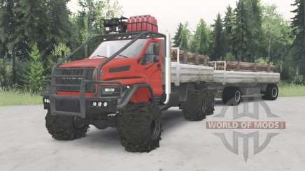 Ural-4320-6951-74 cor vermelha para Spin Tires