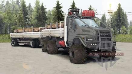 Ural-4320-6951-74 cor cinza para Spin Tires