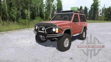 Nissan Patrol GR 3-door (Y60) lifted para Spintires MudRunner