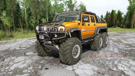 Hummer H2 SUƬ 6x6 para MudRunner