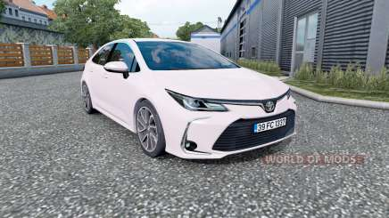 Toyota Corolla hybrid sedan 2020 para Euro Truck Simulator 2