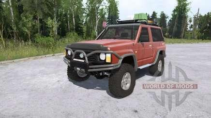 Nissan Patrol GR 3-door (Y60) lifted para MudRunner