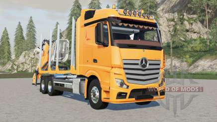 Mercedes-Benz Actros forestry truck para Farming Simulator 2017