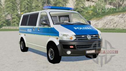 Volkswagen Transporter Kombi (T5) Polizei para Farming Simulator 2017