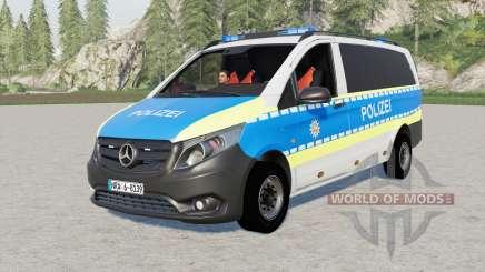 Mercedes-Benz Vito Kastenwagen (W447) Polizei para Farming Simulator 2017