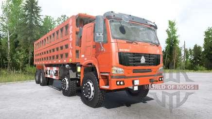 Howo 8x8 dump truck 2008 para MudRunner