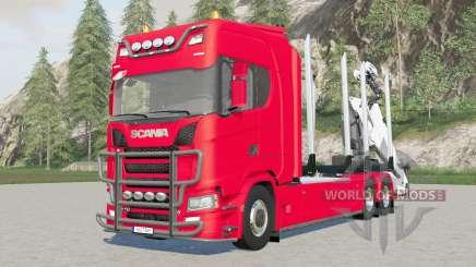 Trucƙ de madeira Scania S 730 para Farming Simulator 2017
