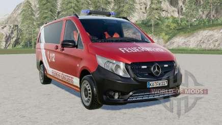 Mercedes-Benz Vito Kastenwagen (W447) Feuerwehr para Farming Simulator 2017