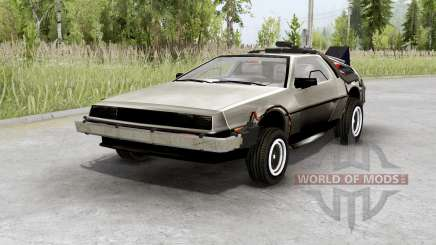 DeLorean DMC-12 time machine para Spin Tires