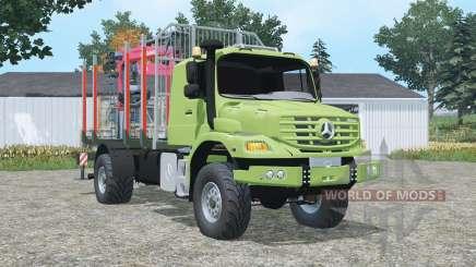 Mercedes-Benz Zetros 1833 A timber truck para Farming Simulator 2015