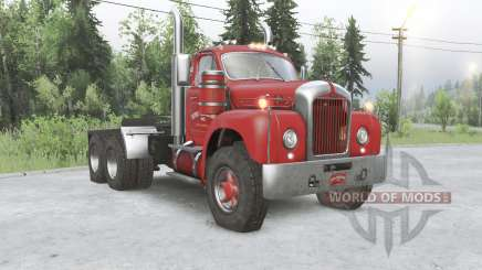 Mack B61 6x6 tractor truck para Spin Tires