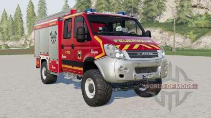 Iveco Daily 4x4 Crew Cab Feuerwehr para Farming Simulator 2017