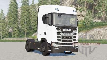 Scania S580 4x4 Highline〡para puxar semirreboque para Farming Simulator 2017