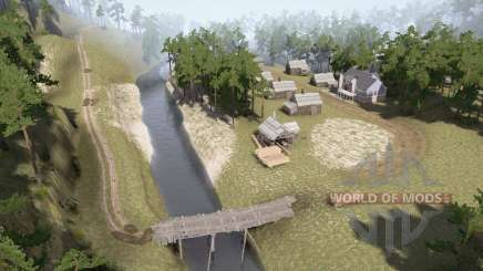 Vila à beira do rio para MudRunner