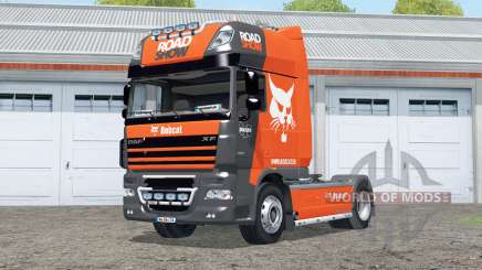 DAF XF105 FT Super Space Cab〡Bobcat Road Show para Farming Simulator 2015