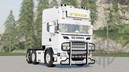 Scania R730 6x4 Simplificar Cabine Topline〡DHoine para Farming Simulator 2017