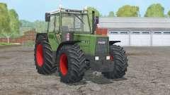 Fendt Favorit 611 LSA Turbomatik E〡presse a chave Z - rodas traseiras duplas para Farming Simulator 2015