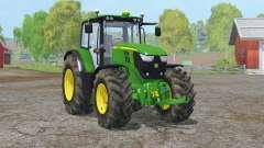 John Deere 6170M〡conseto traseiro imóvel para Farming Simulator 2015