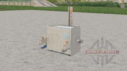 Concrete weight 750 kg. para Farming Simulator 2017