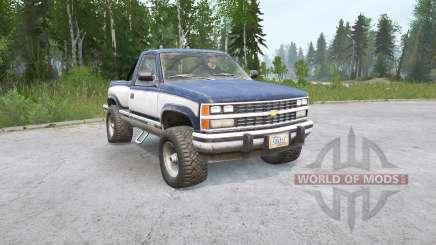 Chevrolet K1500 Cabine Regular Sportside 1988〡a carga para MudRunner