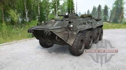 BTR-80〡 nadando para MudRunner