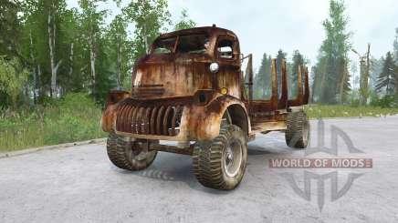 Chevrolet COE Timber Truck para MudRunner