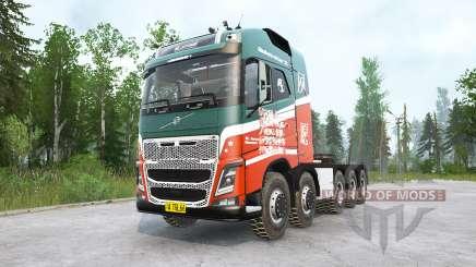 Volvo FH16 750 10x10 Globetrotter XL para MudRunner