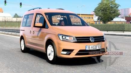 Volkswagen Caddy (Type 2K) 2016 v1.8 para Euro Truck Simulator 2