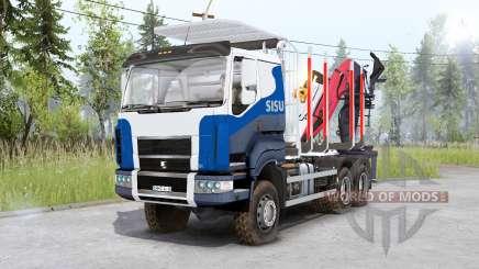 Sisu C600 Timber Truck para Spin Tires