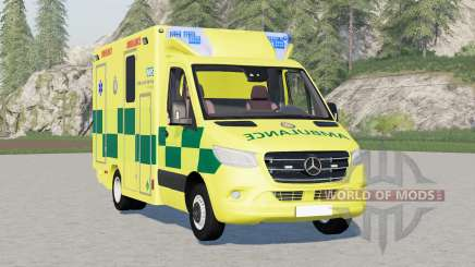 Mercedes-Benz Sprinter UK Ambulance para Farming Simulator 2017