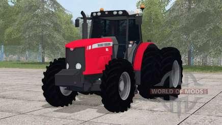 Massey Ferguson 7415〡dual rodas traseiras para Farming Simulator 2017