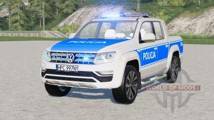 Volkswagen Amarok Double Cab Aventura 2016〡radiowoz policyjny para Farming Simulator 2017