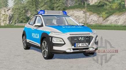 Hyundai Kona (OS) política 〡radiowoz 2018 para Farming Simulator 2017