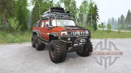 Hummer H2 SUƮ 6x6 para MudRunner