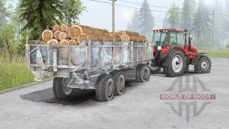 Eixo dianteiro 〡 Bielorrússia-1523 para Spin Tires