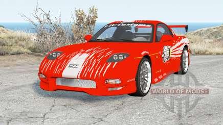 Mazda RX-7 Fast & Furious para BeamNG Drive