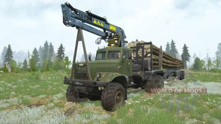 KrAZ-255B〡 uma variedade de cargas para MudRunner